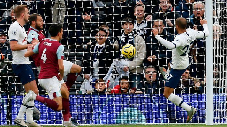 Lucas Moura doubles Spurs' lead against Burnley