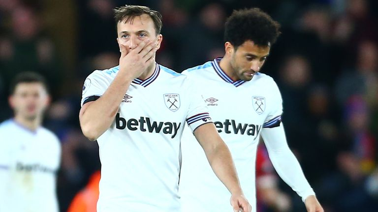 West Ham have suffered three losses in their last five games