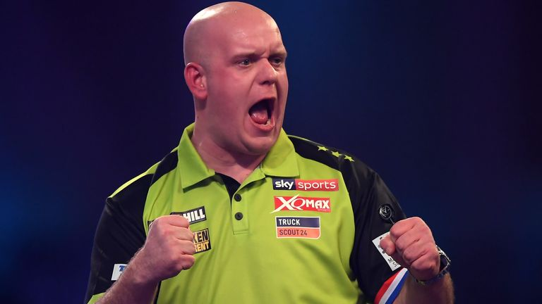 Michael van Gerwen proved too good for Nathan Aspinall to reach his fifth World Darts Championship final