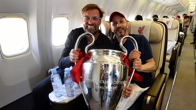 Liverpool's joint owner Mike Gordon pictured with club manager Jurgen Klopp in June