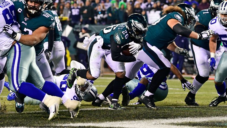 Miles Sanders dove in for the game-sealing score