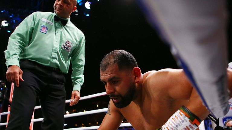 Eric Molina was defeated in three rounds