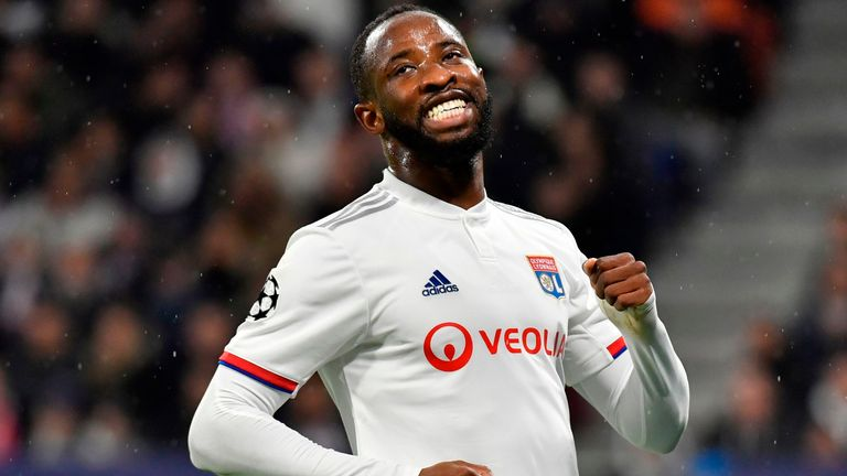 Lyon striker Moussa Dembele is being monitored by United
