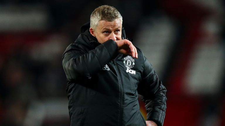 Ole Gunnar Solskjaer reacts after another draw - this time against Aston Villa