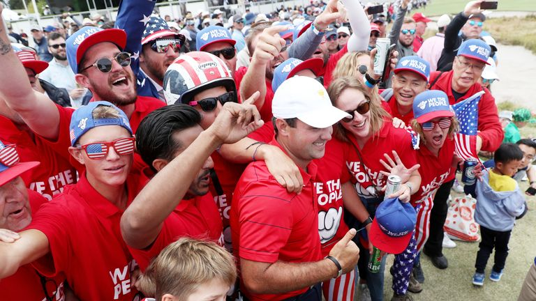 Patrick Reed enjoyed plenty of American support on the final day of the Presidents Cup