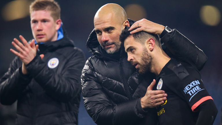Pep Guardiola must decide whether to opt for Riyad Mahrez or Bernardo Silva (pictured) on Saturday