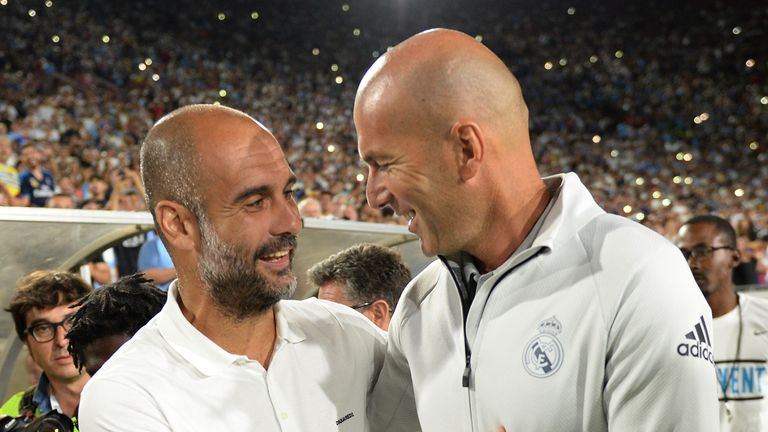 Pep Guardiola's Man City face Zidane's Real Madrid in the pick of the last-16 ties