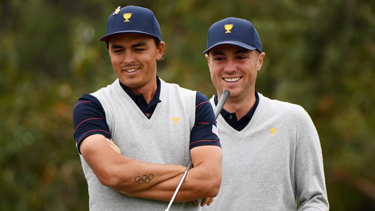 Justin Thomas and Rickie Fowler have been busy on the course