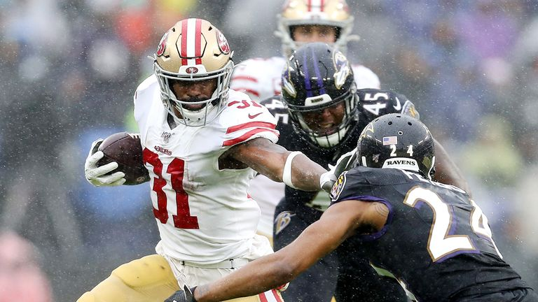 The 49ers ground game thrived with Raheem Mostert leading the way