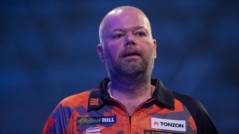 Raymond van Barneveld crashed out of the PDC World Championship on Saturday night