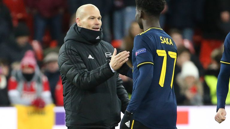 Arsenal's Bukayo Saka delivered for Freddie Ljungberg