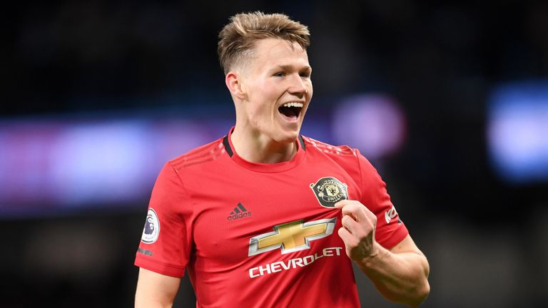 Scott McTominay has featured in 14 of Manchester United's top-flight matches this term