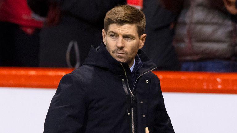 Steven Gerrard's Rangers side drew 2-2 at Aberdeen
