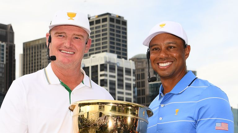Ernie Els and Tiger Woods are the two captains for the Presidents Cup