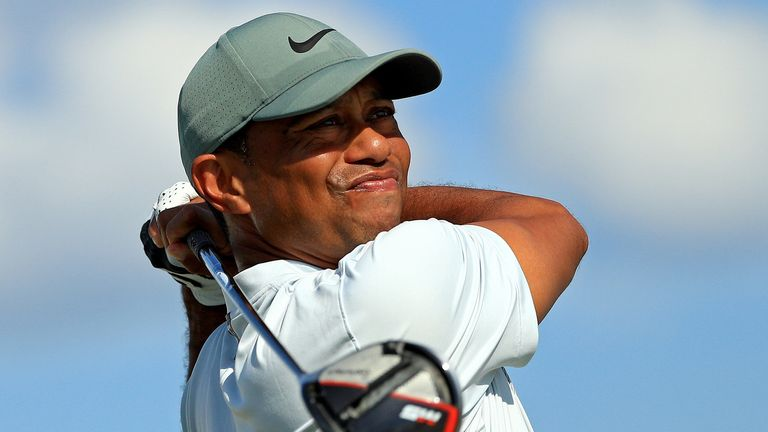 Woods carded three birdies and an eagle on the back nine