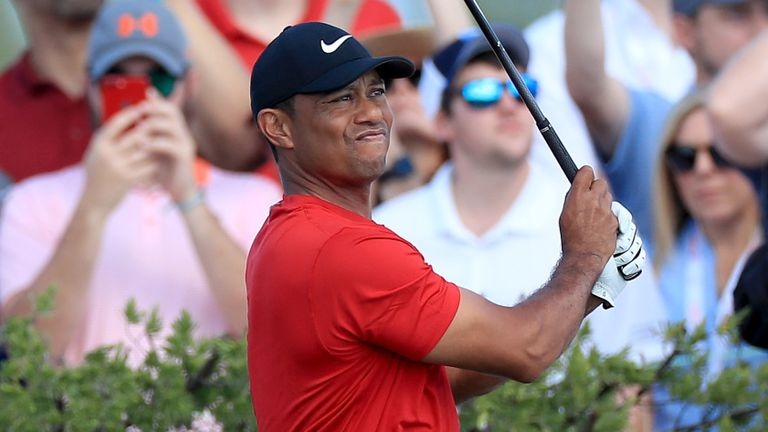 Tiger Woods led until running into trouble on the back nine