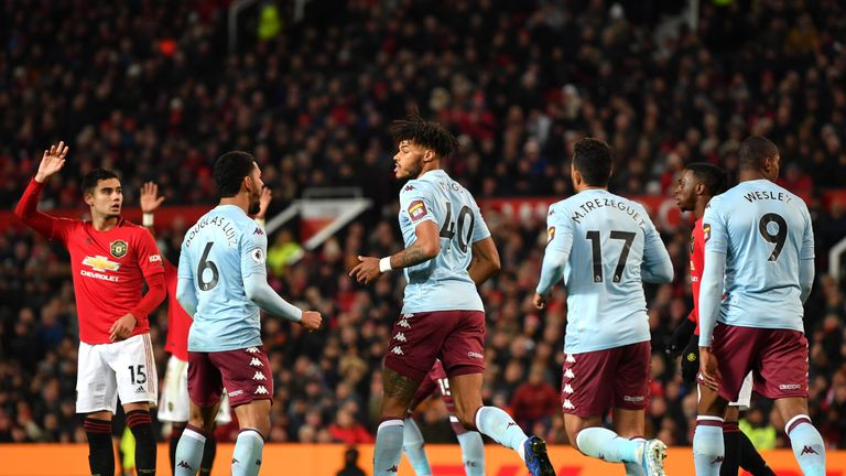 Tyrone Mings equalised for Aston Villa 112 seconds after Man Utd had gone ahead