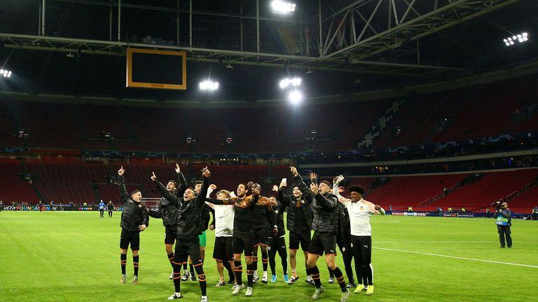 Valencia beat last season's semi-finalist Ajax in Amsterdam