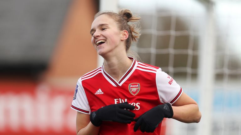 Vivianne Miedema of Arsenal is the joint-top scorer in the Women's Super League