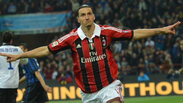 Ibrahimovic was AC Milan's top scorer in the past decade