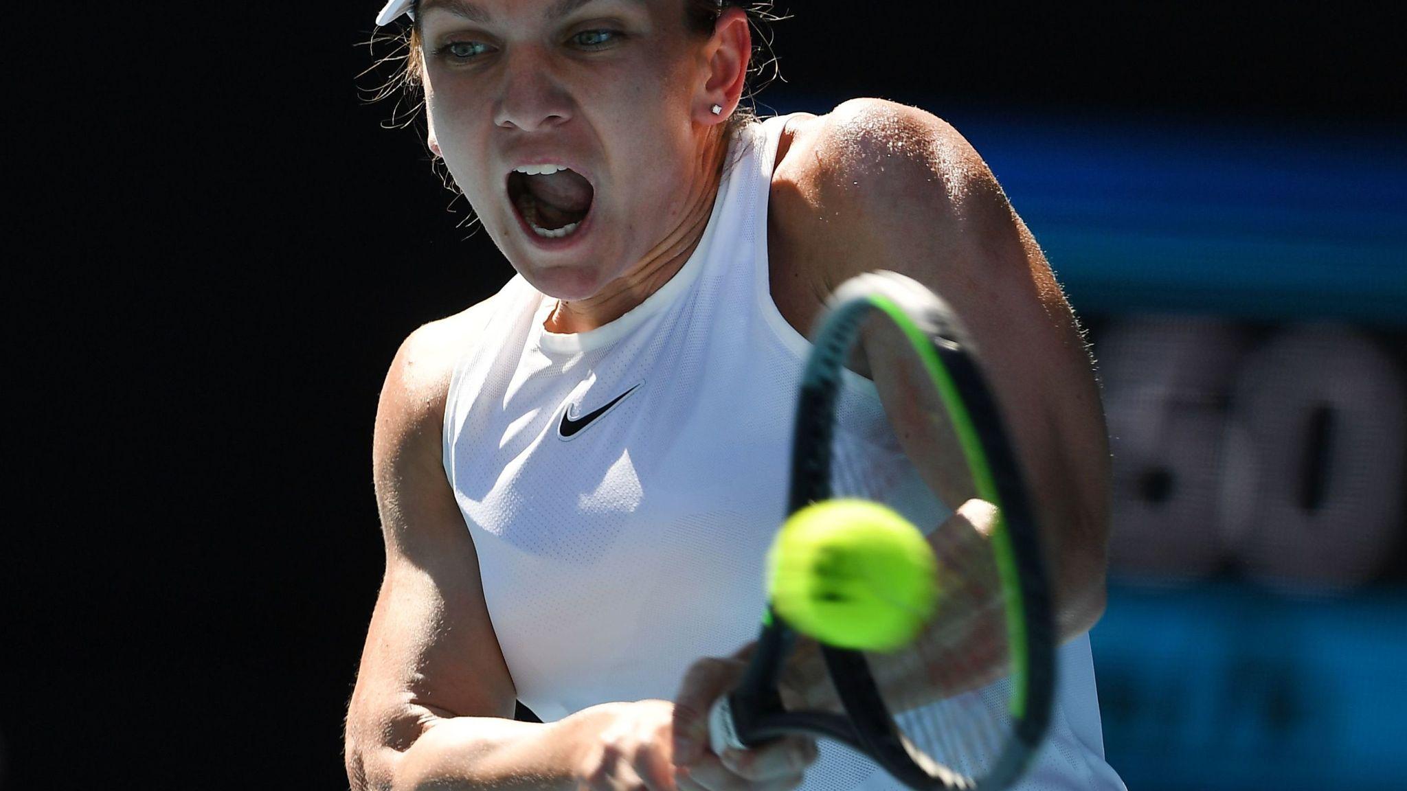 Garbine Muguruza defeats Simona Halep to reach the Australian Open final