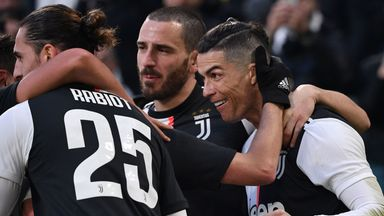 Cristiano Ronaldo scored a hat-trick as Juventus beat Cagliari 4-0