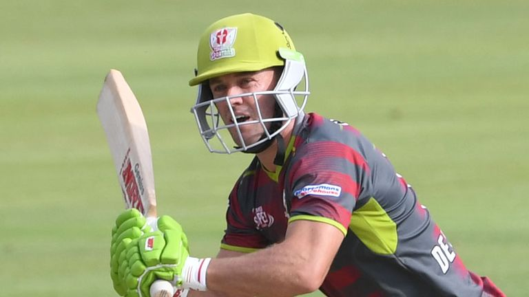 AB de Villiers played for the Tshwane Spartans during the Mzansi T20 Super League in 2019