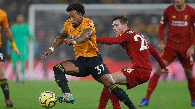Adama Traore, along with team-mate Ruben Neves, have been linked with Liverpool