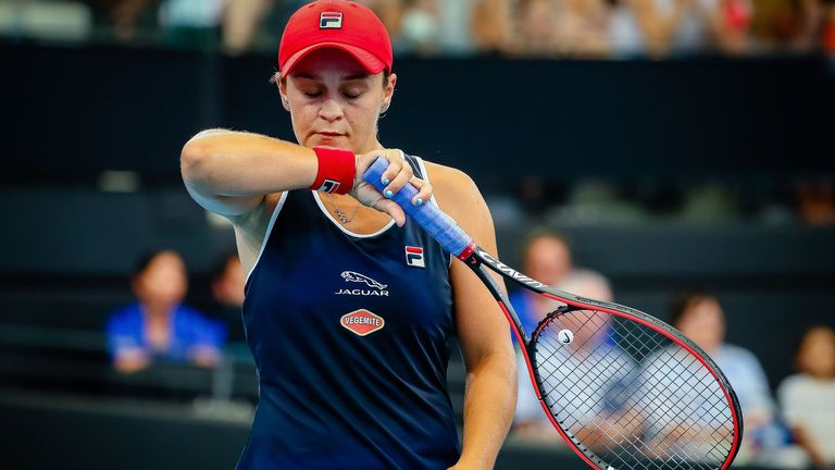 Home favourite Ashleigh Barty was knocked out of the Brisbane International