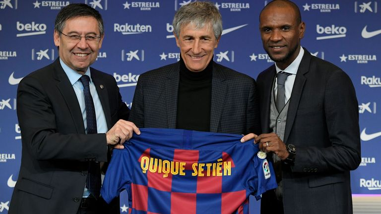 Quique Setien signed a two-and-a-half-year deal