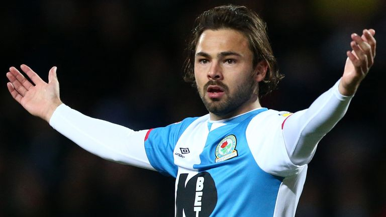 Blackburn midfielder Bradley Dack faces a year out after knee surgery