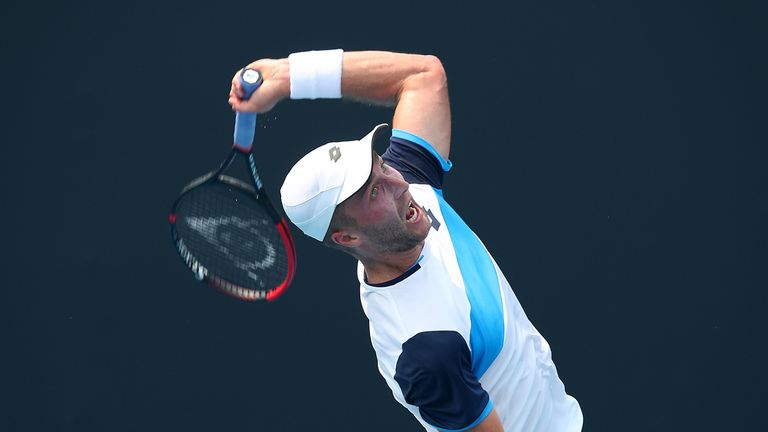 Broady played Ilya Ivashka of Belarus in the qualifier on January 14 at Melbourne Park