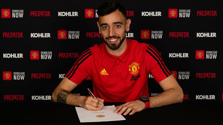 Manchester United signed Bruno Fernandes in the January transfer window
