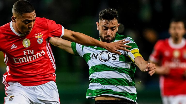 Bruno Fernandes captained Sporting against Benfica in Friday's Primeira Liga clash