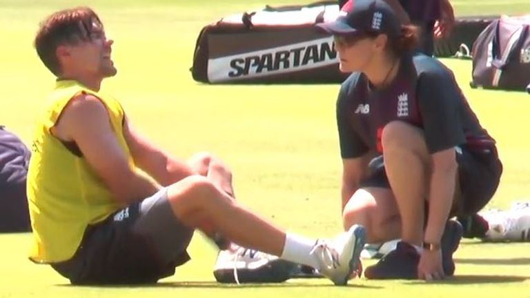 England opener Rory Burns picked up an ankle injury playing football in training with the damage inflicted by captain Joe Root