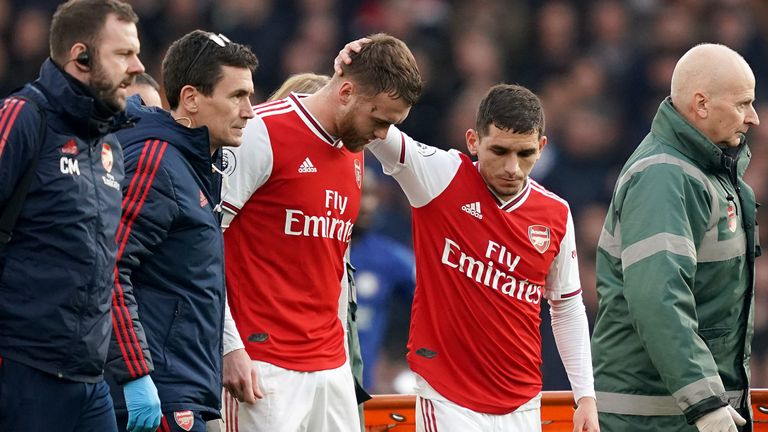 Chambers required surgery after suffering a knee injury against Chelsea at the Emirates