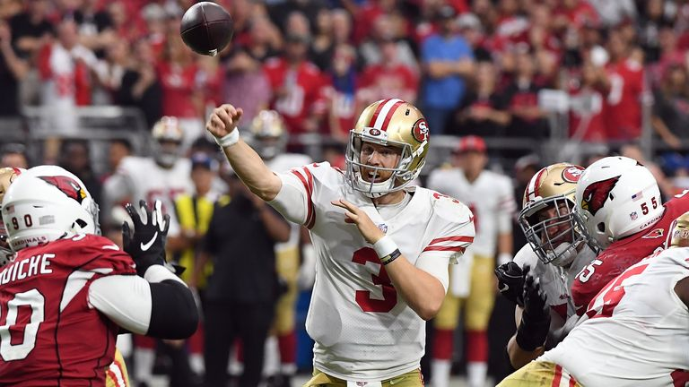 C.J. Beathard has started 13 games for San Francisco under Kyle Shanahan