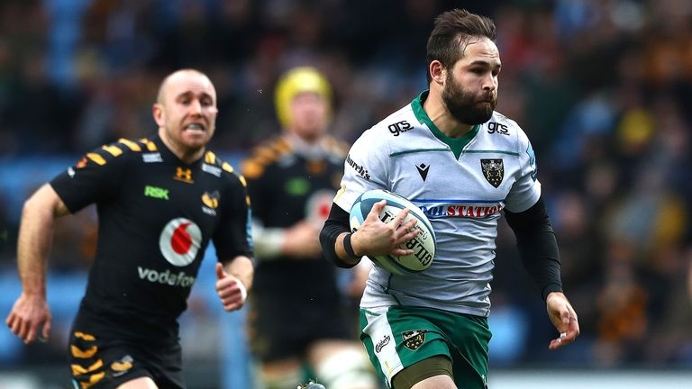 Cobus Reinach scored two tries for Northampton against Wasps