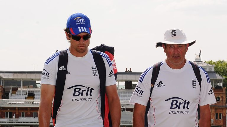 Cook regards Graham Gooch (R) as the greatest influence on his career for Essex and England