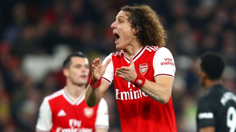 Luiz shone in the win over Manchester United