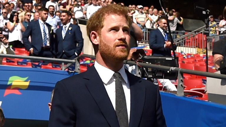The Duke of Sussex attended the Challenge Cup Final between St Helens and Warrington Wolves at Wembley last August