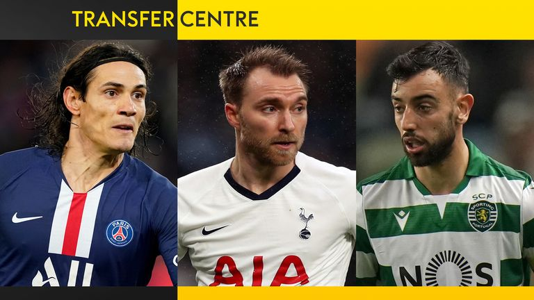 Christian Eriksen and Bruno Fernandes have made January moves... will Edinson Cavani follow suit?