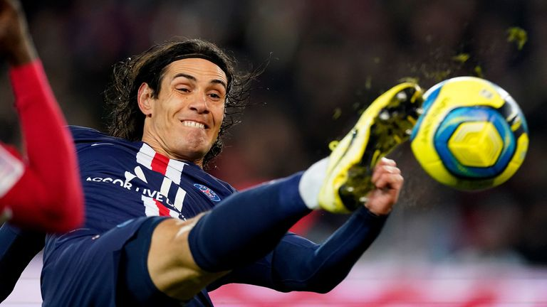 Cavani is expected to leave Paris Saint-Germain at the end of the season