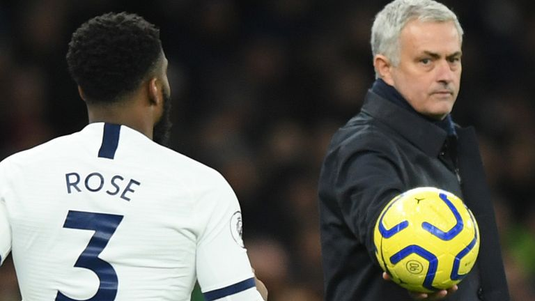 Rose has made 16 Tottenham appearances this season but only five since Jose Mourinho became manager in November