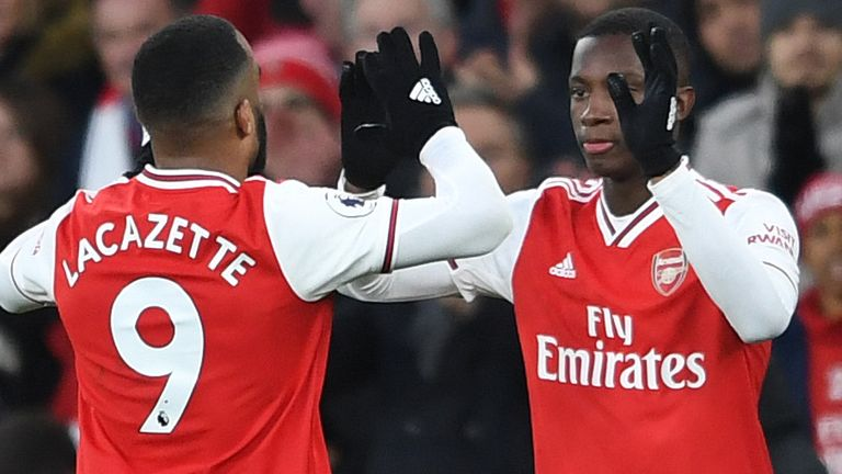 Arteta introduced Eddie Nketiah for the final 16 minutes against Sheffield United