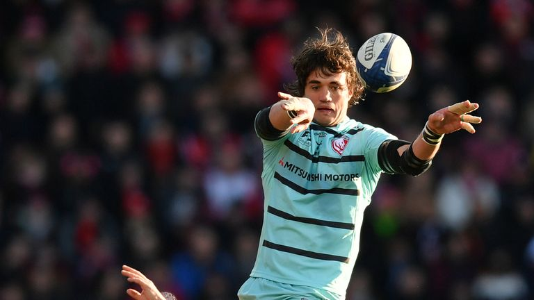 Franco Mostert secures a lineout ball for Gloucester