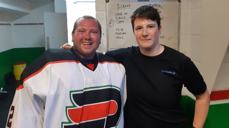 Jay - seen here with his fellow Phantoms goaltender, Gavin Nield - has received great support from his club