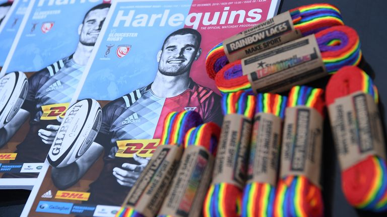 Harlequins will host an LGBTQ+ Pride-themed match against London Irish on Saturday