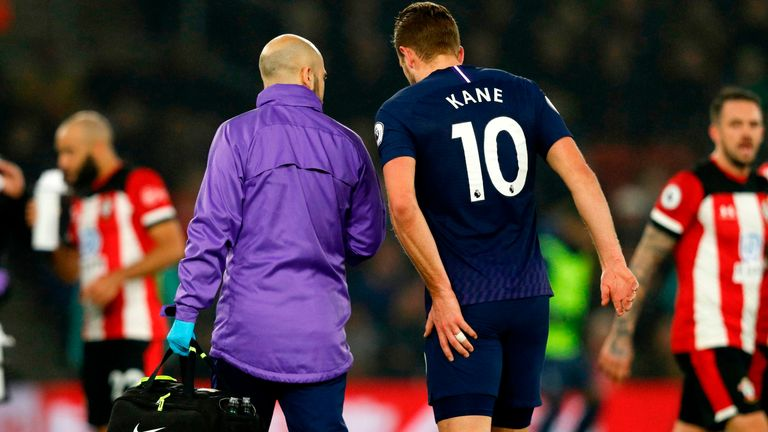 Harry Kane ruptured a tendon in his hamstring on New Year's Day