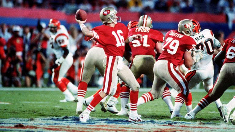 Los 49ers lograron múltiples victorias en el Super Bowl con Joe Montana y compañía